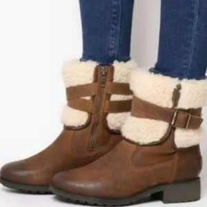 New Ugg Blayre Waterproof Leather Boots 9